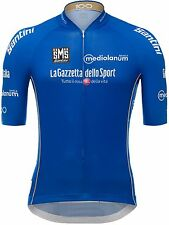 Santini Blue 2017 Ditalia King Of The Mountain Short Sleeved Cycling Jersey