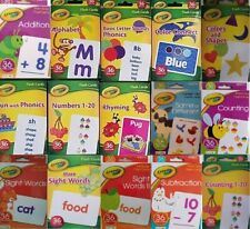 CRAYOLA LEARNING FLASH CARDS Age 3+, 36 Cards/Pk, Select: Learning Pack