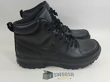 Nike Manoa Leather Outdoor Work Boot ACG Black Lace Up 454350-003 Hiking Goadome