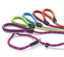 Miro & Makauri figure of 8 Dog Slip leads with Bright Colours and Rubber Handles
