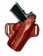 """Colt 1911 5"""" Barrel Holster Brown Leather Locked & Cocked Tagua"""