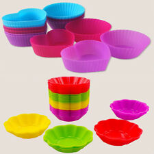 8pcs Food-grade Silicone Cake Muffin Chocolate Cupcake Nonstick Baking Cup Mold