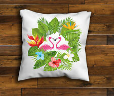 Pink flamingos Heart Unique Design Cushion Cover Handmade with Zip