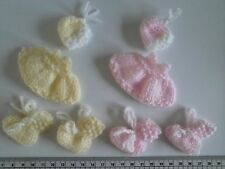 CUTE   Baby Girl / Baby Boy Card Toppers / Embellishments          Hand Knitted