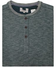 Mens Ex Marks & Spencer Long Sleeve Casual Polo Shirt M&S Blue Harbour Top
