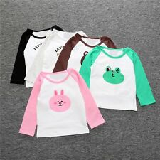 Toddler Kids Baby Boys Girls Long Sleeve Animal Cotton T-shirt Tops Clothes 0-5Y