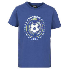 Trespass Footballer Boys Printed T-Shirt Active Short Sleeve Cotton Top
