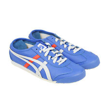 Onitsuka Tiger Mexico 66 Mens Blue Leather Trainers Shoes