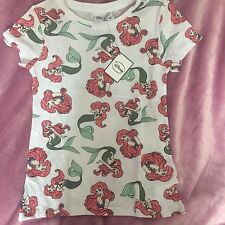 Ladies DISNEY ARIEL The LITTLE MERMAID T Shirt  Primark Tee Top