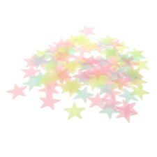 100Pcs Kids Bedroom Ceiling Wall Galaxy Glow In The Dark Stars Stickers Set