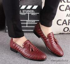 Mens New Knitted stylish tassel dress formal business Flat Slip on loafer shoes