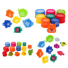 Baby Folding Bathing Toys Figures Numbers Animal Folding Cups Tower Stack