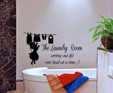 Wall Decal Quote Sorting Out Life Laundry Decal Vinyl Art Bathroom Decor KI88