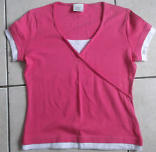 LADIES NEXT PINK & WHTE TOP SIZE 12 PETITE EXCELLENT CONDITION