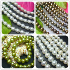 5-7mm,7-8mm Freshwater Cultured Pearl Rice / Oval / Loose Beads Strand 16""