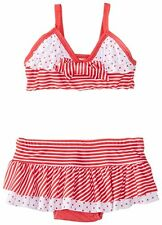 Nannette Toddler Girls 2 Piece Skirted Bathing Suit Swimsuit Bikini 2t 3t 4t nwt