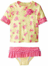Nannette Toddler Girls2 Piece Floral Swimsuit Tankini Bathing Suit  2t 3t 4t nwt