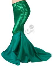 Womens Bodycon Party Costume Mermaid Tail Skirt Long Maxi Fancy Dress Ladies
