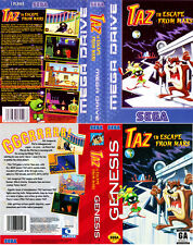 Taz Escape From Mars Sega Mega Drive PAL Replacement Box Art Case Insert Cover