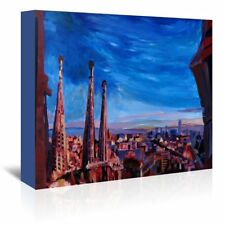 East Urban Home Barcelona Sagrada 3 Painting on Wrapped Canvas