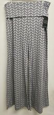 NWT Almost Famous Women's Large Palazzo Pants High Waist Foldable