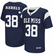 #38 Ole Miss Rebels Colosseum Youth Football Jersey - Navy - NCAA