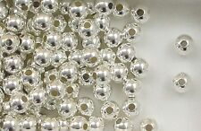 925 Sterling Silver 7mm Seamless Round Spacer Beads, Choice of Lot Size & Price