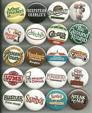Vintage Restaurant Collection Pins Buttons Badges Pick Your Own Set