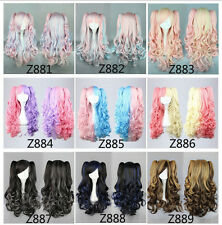 "Wavy Curly Colorful 65CM/26"" 2  Ponytail Hair Party Fashion Sexy Cosplay Wig"