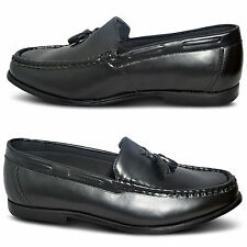 New Mens Slip On Loafers Boat Tassel Smart Casual Office Dress Shoes UK Sizes