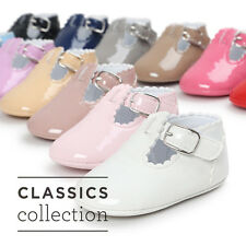 Baby Girl Soft Sole Crib Shoes Leather Sneakers for 0-18M Toddler Newborn