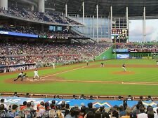 Marlins vs World Champs Chicago Cubs 6/24/17 (Miami) Row 1 - Behind Cubs Dugout