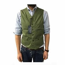 MANIFATTURA CECCARELLI vest man green mod 6907 100% cotton MADE IN ITALY