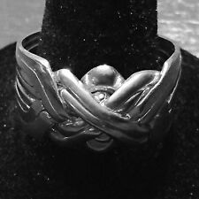 TURKISH PUZZLE RING 8-BAND STERLING SILVER AUTHENTIC MADE IN TURKEY NEW