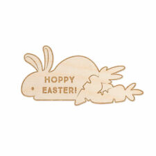 Woodums Hoppy Easter Bunny Engraved Wood Sign Wall Decor