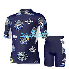 Santic Boys Cycling Suits Cycling Jersey&4D Padded Shorts Children Bicycle Bike