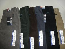 NWT $74 Mens  IZOD Straight Fit Corduroy Pants 100% Cotton
