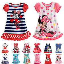 6 Types Toddler Kids Girls Summer Dress Cartoon Mouse Outfit Skirts Clothes 0-7Y