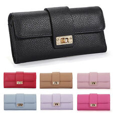 Women Leather Bifold Wallet Clutch Phone Card Holders Purse Lady Long Handbag s