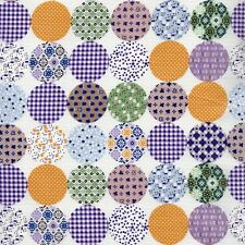 PATCHWORK  COINS FABRIC  100% JAPANESE  COTTON QUILTING  FABRIC  FAT QUARTER