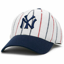 New York Yankees American Needle Cooperstown Fitted Hat - White/Navy - MLB