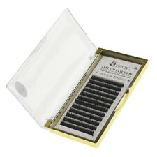 Black Thick Individual False Eyelashes Eye Lash Extension Tray B Curl 6mm 12 Row