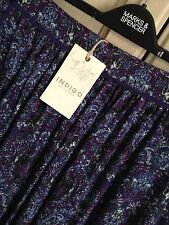M&S INDIGO COLLECTION SIZE 8 12 14 OR 16 PURPLE MIX SOFT PULL ON SKIRT FREE POST