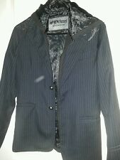 FOX RACING DELUXE LIMITED EDITION COLLECTION MENS SIZE SMALL JACKET PINSTRIPE