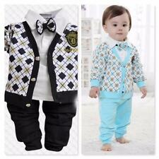 NWT baby toddler boy 2pc outfit set dressy suit look 6 12 months 1 2 3 4 years