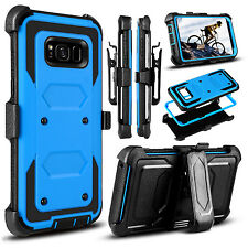 For Samsung Galaxy S8 Plus Case Hybrid Belt Clip Holster Armor Kickstand Cover