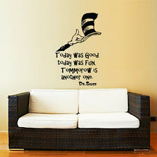 Dr Seuss Wall Decal Quote Sayings Vinyl Sticker Decals Nursery Baby Decor ZX237