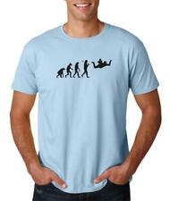 Hot4TShirts Evolution Skydiving Airplane Jump Skydive Parachute T-Shirt For Men