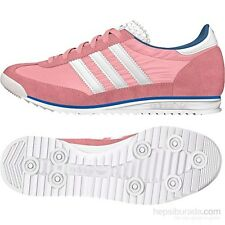 Womens Adidas Originals SL72 Classic Pink Casual Fashion Trainers Shoes Size 3-8