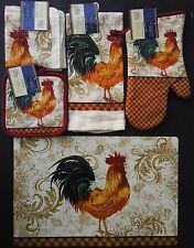 KITCHEN RED ROOSTER THEME LINEN & PLACEMAT 7 PC SET SELECT: Items